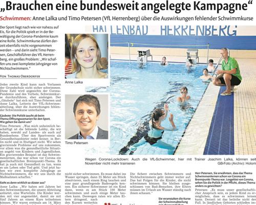Gäubote-Bericht: Fehlende Schwimmkurse